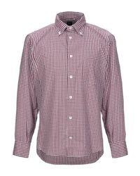 Chemise Eleventy pour homme en coloris Purple