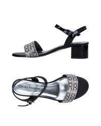 Chiara Pasquini Black Sandals