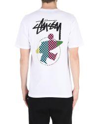 Stussy White T-shirt for men
