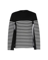 T By Alexander Wang White Striped Hoodie for men
