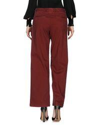 Scaglione Red Casual Trouser