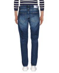 Department 5 Blue Denim Pants for men