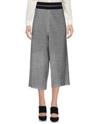 Souvenir Clubbing - Gray 3/4-length Trousers - Lyst