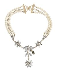 Twin Set - White Necklace - Lyst