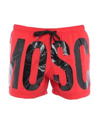 Boxer da mare di Moschino in Red da Uomo