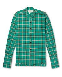 Camisa Greg Lauren de hombre de color Green