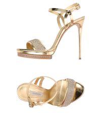 Casadei Metallic Sandals