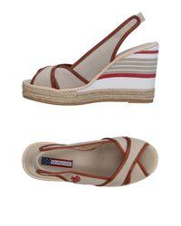 U.S. POLO ASSN. Natural Sandals
