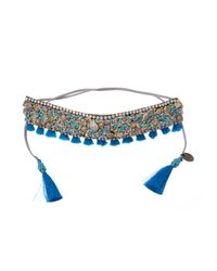 Deepa Gurnani - Blue Necklace - Lyst
