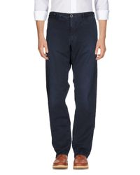 Incotex Red Blue Casual Trouser for men