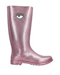 Chiara Ferragni Pink Stiefel