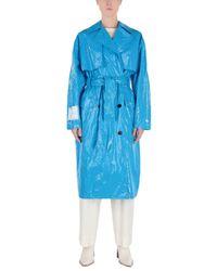 MSGM Blue Lange Jacke