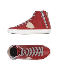 Philippe Model Red High-tops & Sneakers