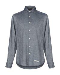 Camisa Tintoria Mattei 954 de hombre de color Gray
