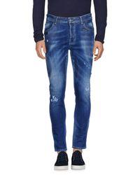 Frankie Morello - Blue Denim Trousers for Men - Lyst
