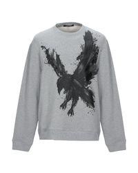 Sweat-shirt Roberto Cavalli pour homme en coloris Gray