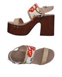 Divine Follie Natural Sandals