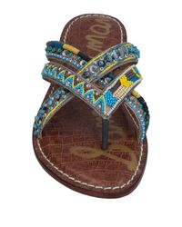 Sam Edelman Multicolor Toe Strap Sandal