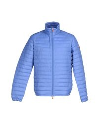 Save The Duck Blue Synthetic Down Jacket for men