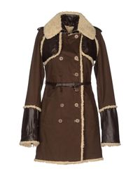 Patrizia Pepe Brown Mid-length Jacket