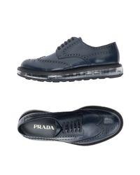 Chaussures à lacets Prada pour homme en coloris Blue