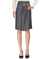 Alviero Martini 1A Classe Gray Knee Length Skirt
