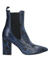 Paris Texas Blue Ankle Boots