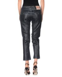 John Galliano - Black Denim Capris - Lyst