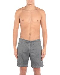 Fendi Gray Swimming Trunks for men