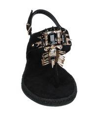 Tongs Versace en coloris Black