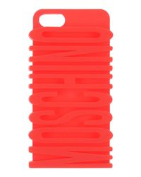 Moschino Red I Phone Cover