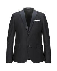 Grey Daniele Alessandrini Black Suit Jacket for men