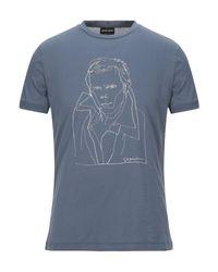 T-shirt Giorgio Armani pour homme en coloris Blue