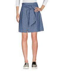 MSGM Blue Denim Skirt