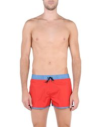 Guess Red Swimming Trunks for men