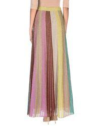 M Missoni Purple Long Skirt