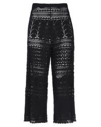 VIKI-AND Black 3/4-length Trousers