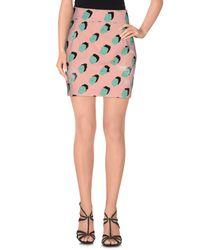 Marco Bologna - Pink Denim Skirt - Lyst