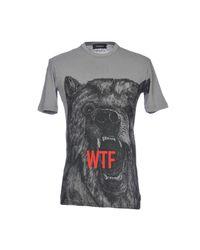 DSquared² Gray T-shirt for men