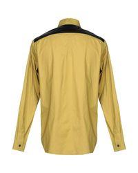 Camicia di Rick Owens in Yellow da Uomo
