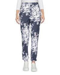 Sonia Rykiel Blue Printed High Waisted Trousers