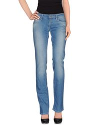 Exte - Blue Denim Trousers - Lyst