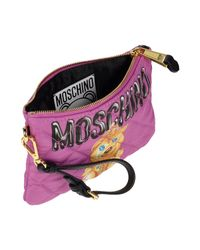 Moschino Multicolor Printed Quilted Twill Wristlet