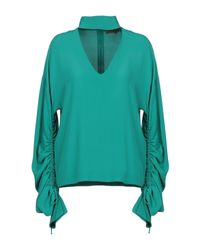 Space Style Concept Green Bluse