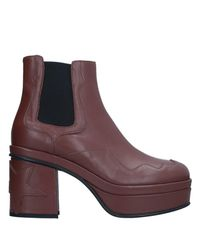 Pinko Brown Ankle Boots