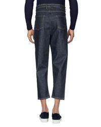 Officina 36 Blue Denim Trousers for men