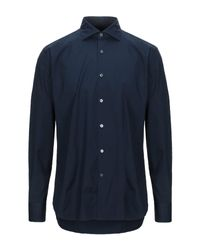 Camisa Guglielminotti de hombre de color Blue