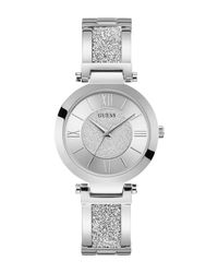 Guess Metallic Wrist Watch