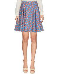 Pinko - Blue Knee Length Skirt - Lyst