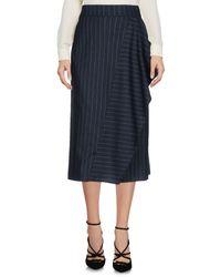 Tara Jarmon Blue 3/4 Length Skirt